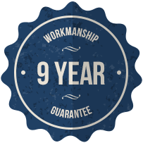 9 Year Workmanship Guarantee
