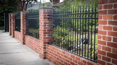 Recycled Red Brick Fence in Hyatt, Melbourne