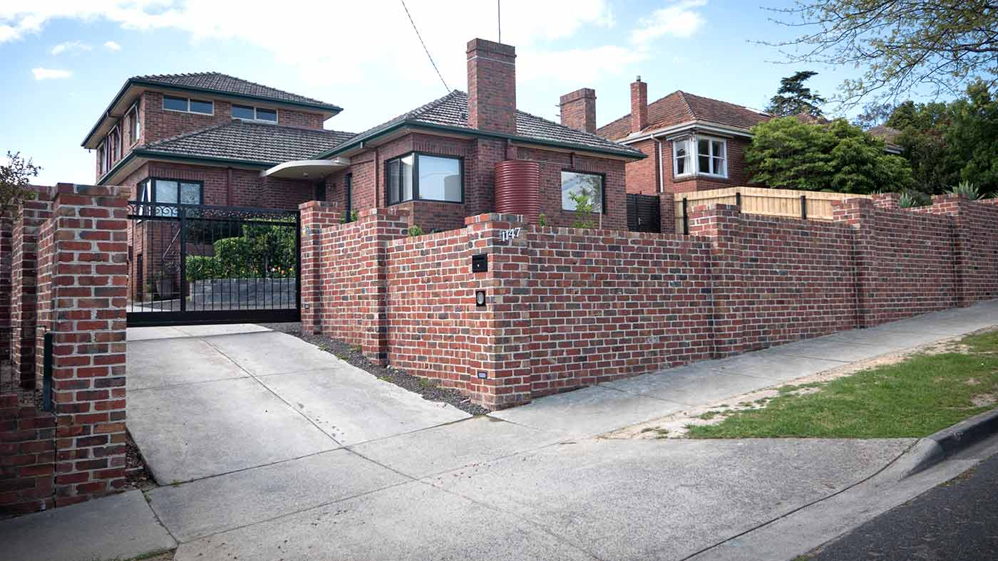 Brick Fence in Melbourne